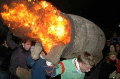 Flaming Tar Barrels, Ottery St Mary, November 5th
