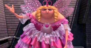 Grr from minions dressed as a princess. Photo from here